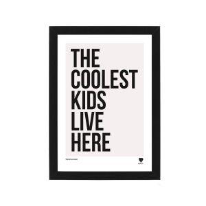 Lainey K The Coolest Kids Live Here Framed Print