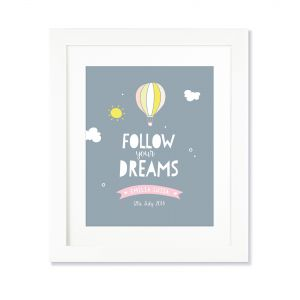 Larollie Girl - Follow Your Dreams Personalised Print