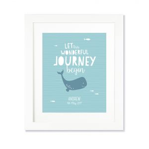 Larollie Boy - Let The Wonderful Journey Begin Personalised Print