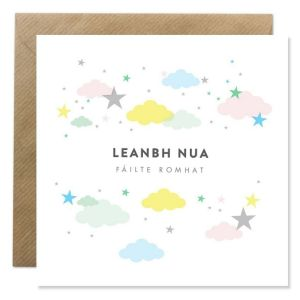 Welcome New Baby Leanbh Nua Card