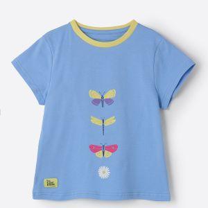 Little Lighthouse Causeway Butterfly Print T-Shirt