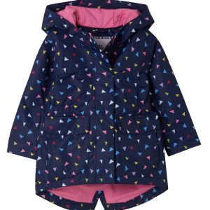 Little Lighthouse Charlotte Triangle Print Coat front