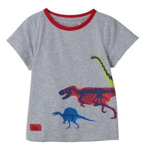 Little Lighthouse Oliver Dinosaur Print T-Shirt