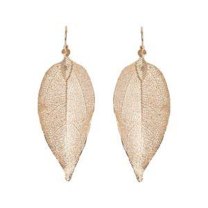 Lovethelinks Rose Gold Leaf Earrings