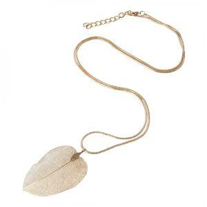Lovethelinks Rose Gold Leaf Necklace
