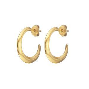 Loinnir Jewellery Torc Gold Hoop Earrings