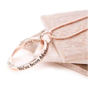 Lovethelinks Mother/Daughter Rose Gold Necklace