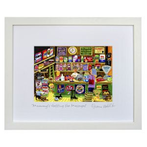 "Simone Walsh Medium Framed ""Mammy's Getting The Messages"""