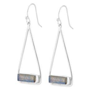 Juvi Manhattan Silver  Labradorite Swing Earrings
