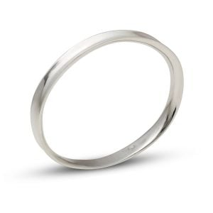 Maureen Lynch Wave Silver Bangle