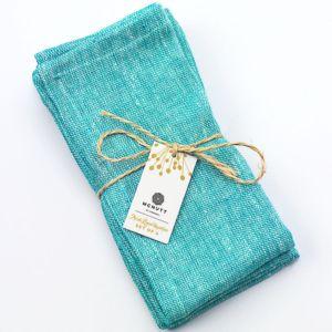 McNutt of Donegal Irish Linen Turquoise Napkins