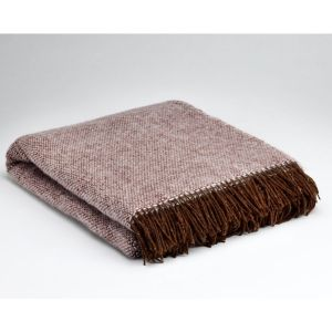 McNutt of Donegal Plum Wool Throw