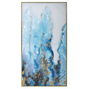 Mindy Brownes River Flow Framed Canvas