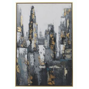 Mindy Brownes Skyline Framed Canvas