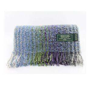 Mucros Weavers Skellig Scarf in Blue & Green Purple