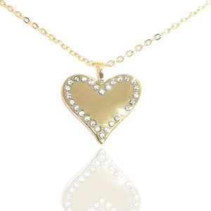My Diamond  Heart With Stones Necklace