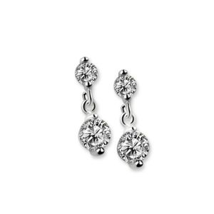 Newbridge Clear Stone Drop Earrings