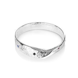 Newbridge Dalique Silver Twist Bangle