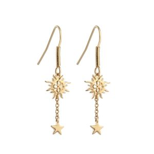 Newbridge Drop Earrings with Sun and Stars