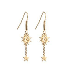 Newbridge Drop Earrings with Sun and Stars