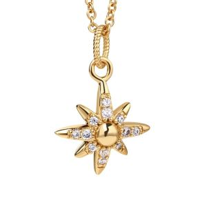 Newbridge Gold Plated Star Pendant with Clear Stones