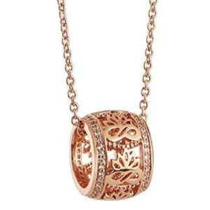 Newbridge Rose Gold Plate Pendant with Clear Stones