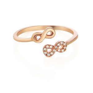 Newbridge Rose Gold Plated Infinity Ring