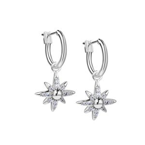 Newbridge Silver plated Star Earring with Clear Stones