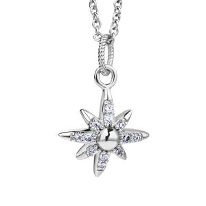 Newbridge Silver Plated Star Pendant with Clear Stones