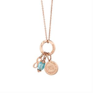 Newbridge Ti Amo March Birthstone Pendant
