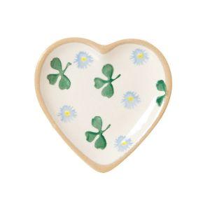Nicholas Mosse Tiny Heart Plate Clover