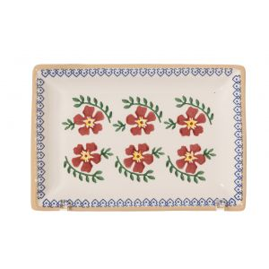 Nicholas Mosse Small Rectangle Plate Old Rose