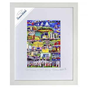 "Simone Walsh Small Frame 'On Campus in NUI Galway' 10""x 8"