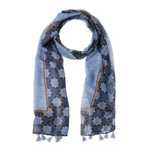 Olsen Blue Print Scarf With Tassel Detail