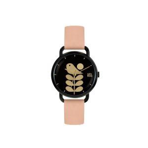 Orla Kiely Avery Stem Pink Strap Watch