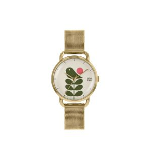 Orla Kiely Avery Gold Mesh Watch