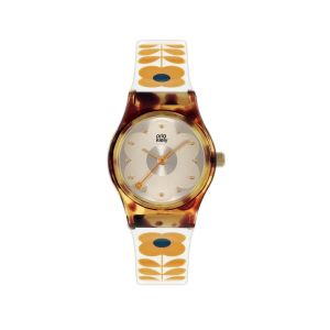 Orla Kiely Baby Bobby Cream Tall Flower Watch