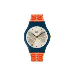 Orla Kiely Bobby Orange/Navy Watch |