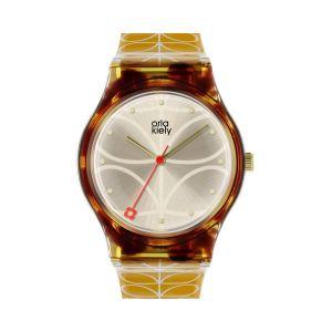 Orla Kiely Cream Mustard Bobby Watch