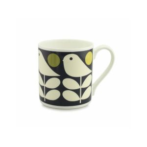 Orla Kiely Early Bird Dark Navy Mug