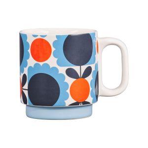 Orla Kiely Individual Mug - Scallop Flower Sky