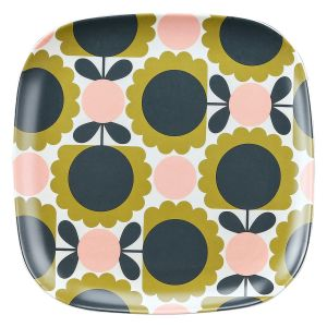Orla Kiely  Scallop Flower Forest Bamboo Side Plate