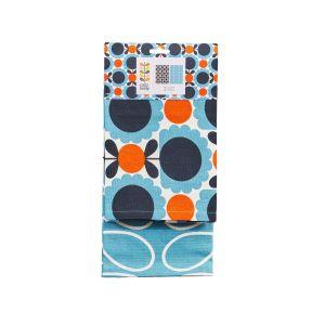 Orla Kiely Scallop Flower Sky Set of 2 Tea Towels