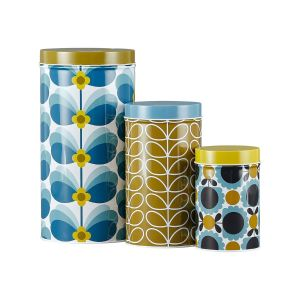 Orla Kiely Set of 3 Nesting Canister Tins