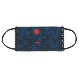 Orla Kiely Stem Sprig Navy Face Covering front