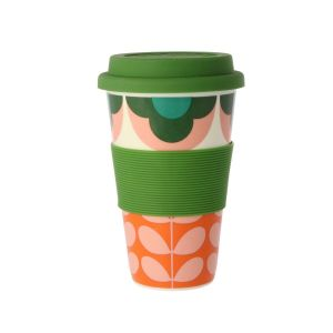 Orla Kiely Summer Flower Green Travel Mug
