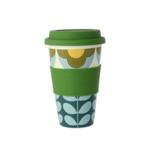 Orla Kiely Summer Flower Stem Blue Travel Mug
