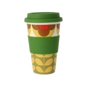Orla Kiely Summer Flower Stem Yellow Travel Mug