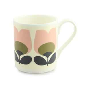Orla Kiely Mug Pink/Olive Tulip