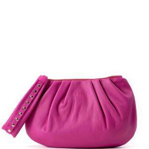 Peelo Cloud Hot Pink Leather Clutch